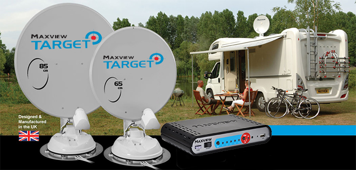 maxview target folding satellite system for motorohmes and caravans